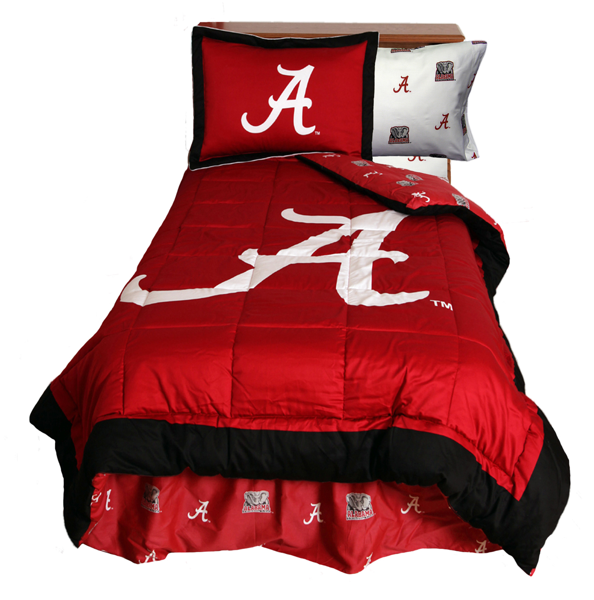 College Covers NCAA Alabama Reversible Comforter Set