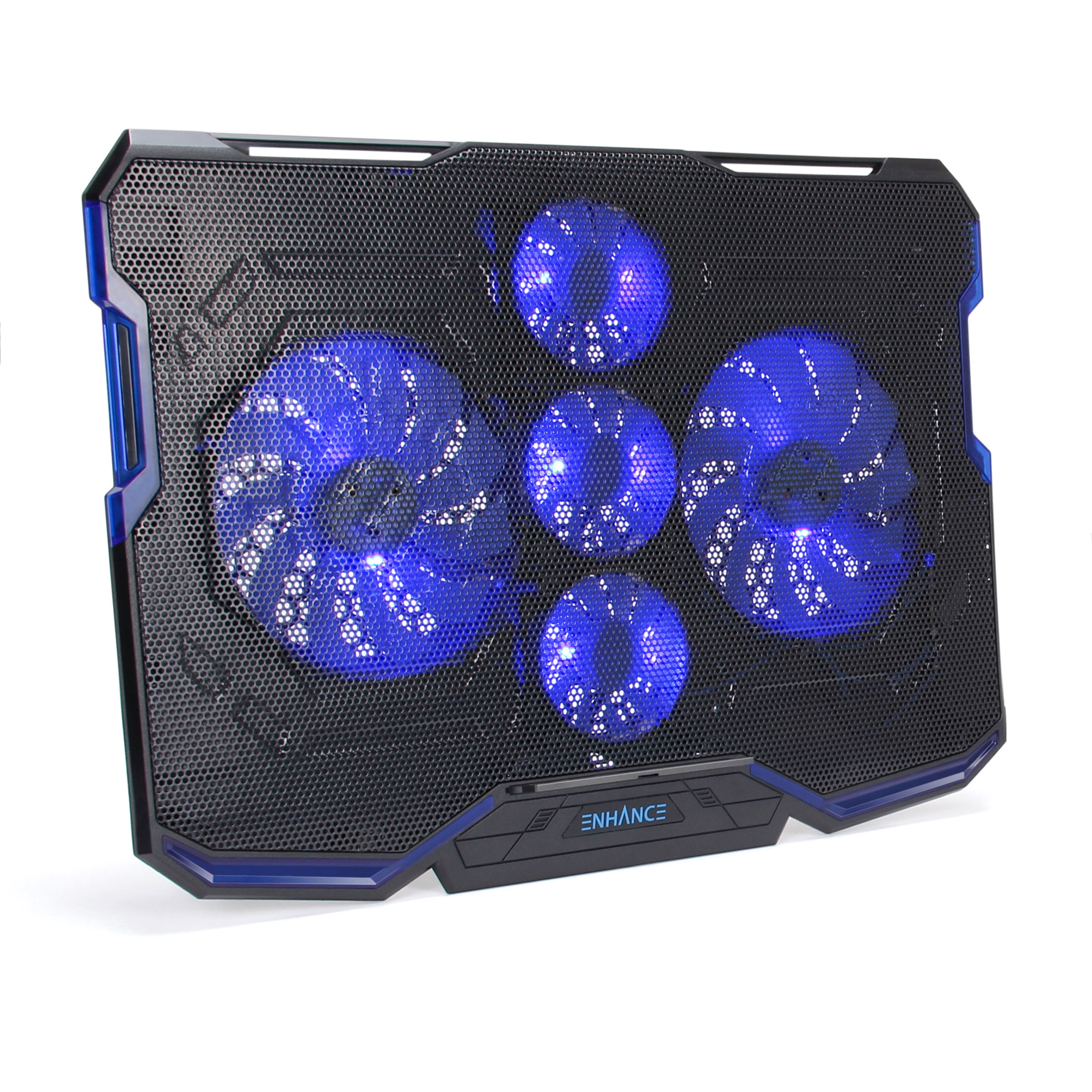 2 USB Ports and LED Lighting Slim Portable Design 2500 RPM ENHANCE Cryogen Gaming Laptop Cooling Pad Adjustable Laptop Cooling Stand with 5 Ultra Quiet Cooler Fans Fits up to 17 inch Computer