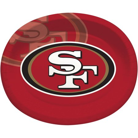 - San Francisco 49ers Oval Platters, 8-Pack