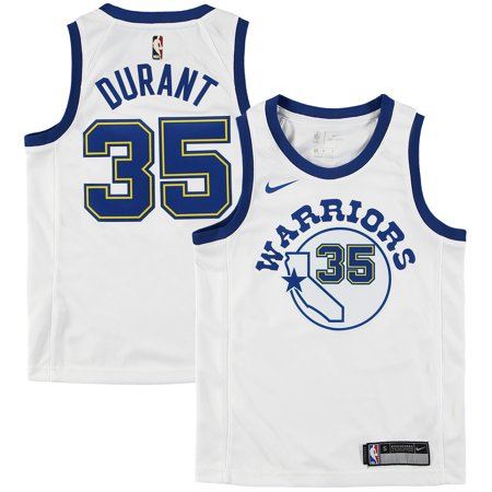 check out 82df9 e19a9 Youth Golden State Warriors Kevin Durant Nike White Hardwood Classics  Swingman Jersey-Yth M