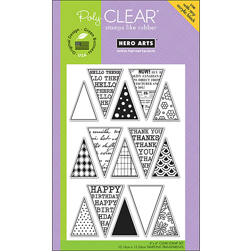 Hero Arts Poly Clear Stamp Friendly Flags