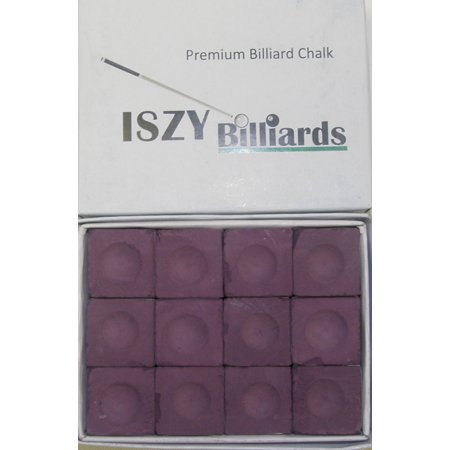 Premium Billiard Stick - Pool Cue Chalk Purple Quantity 12 Pieces