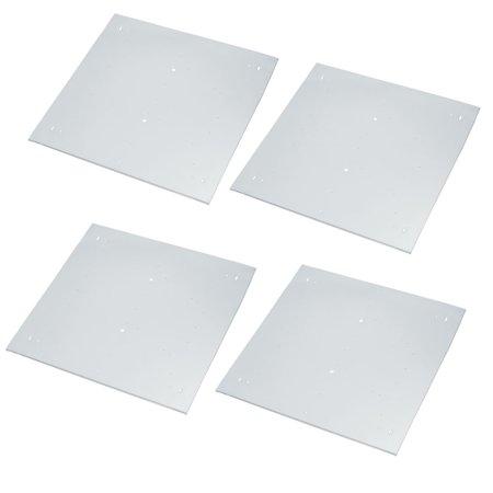 4pcs 395mm x 395mm Pendant Lamp Ceiling Plates Folding Square Type Chassis Disc - image 4 de 4