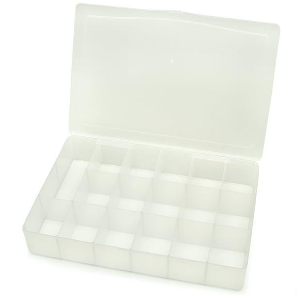 Darice Clear Plastic 17 Compartment Organizer Box 10 25 X 6 75 Inches Walmart Com Walmart Com