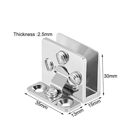 Uxcell Glass Door Hinge Adjustable Clamp for 5-8mm Glass Thickness - image 2 of 4