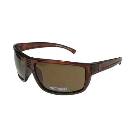 New Hd 0110v Mens Designer Full-Rim 100% Uva & Uvb Transparent Brown Frame Brown Lenses 62-15-125 (100 Uva Uvb Sunglasses)