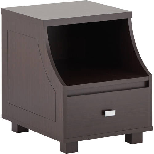 Furniture of America Bowen Single Drawer End Table, Walnut