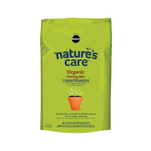 Miracle-Gro Nature's Care Organic & Natural Potting Mix with Water Conserve, 32-Quart