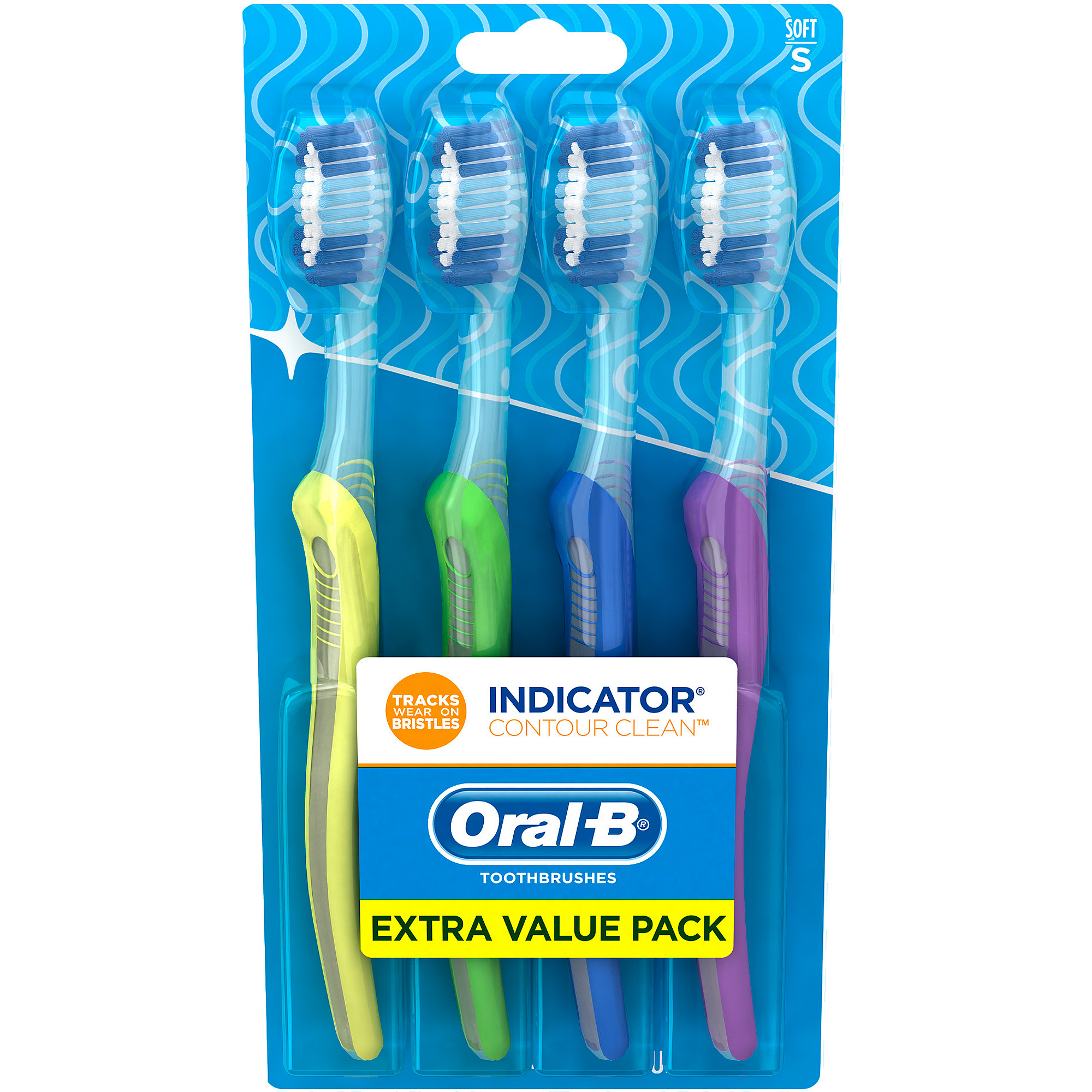 Oral-B Indicator Soft Bristle Toothbrush, 4 count