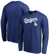 Los Angeles Dodgers Fanatics Branded Big & Tall Team Lockup Long Sleeve T-Shirt - Royal