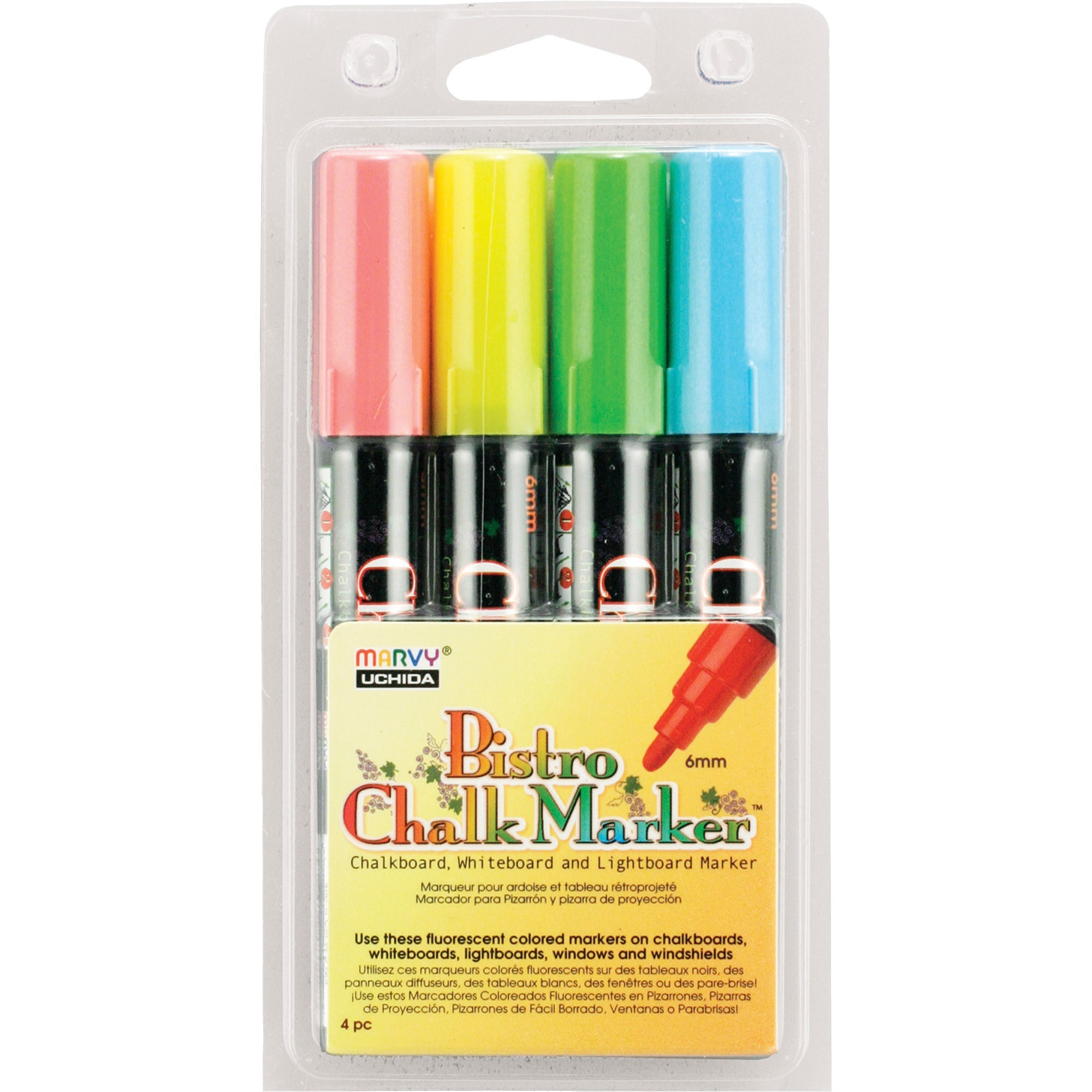 Marvy Chalkboard and Lightboard 4-Color Set A
