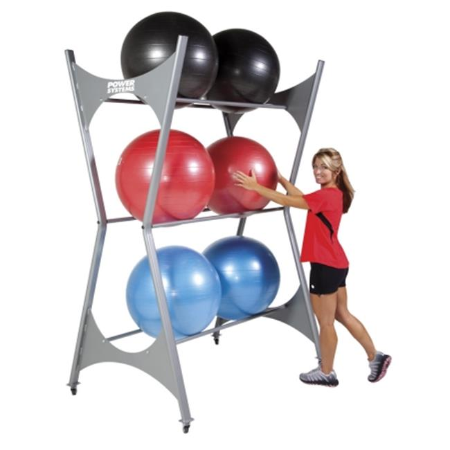Power Systems 92476 Elite Stability Ball Storage Rack with Casters and 12 Ball Capacity