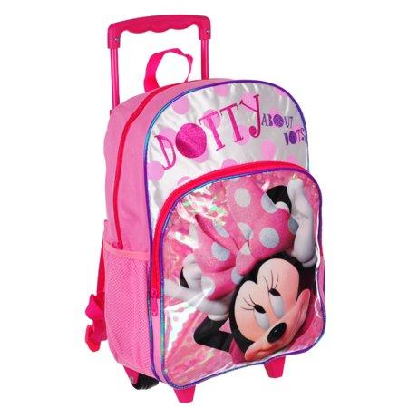 47a5be1e18 Disney - Minnie Mouse Rolling Backpack - Walmart.com
