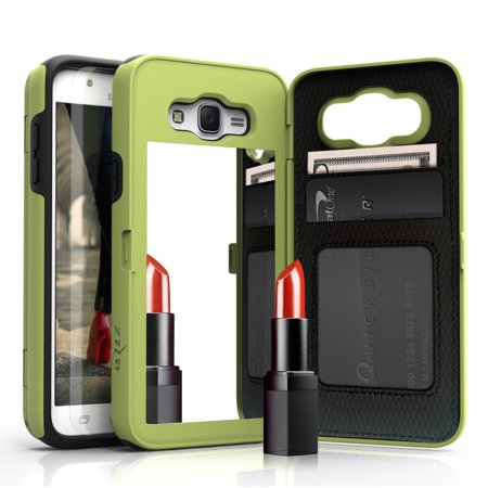 Samsung Galaxy J7 Case, [Vettore by Zizo] All-in-One Wallet Case with [Galaxy J7 Screen Protector] Built-In Mirror and [Kickstand] - Galaxy J7 J700 ...