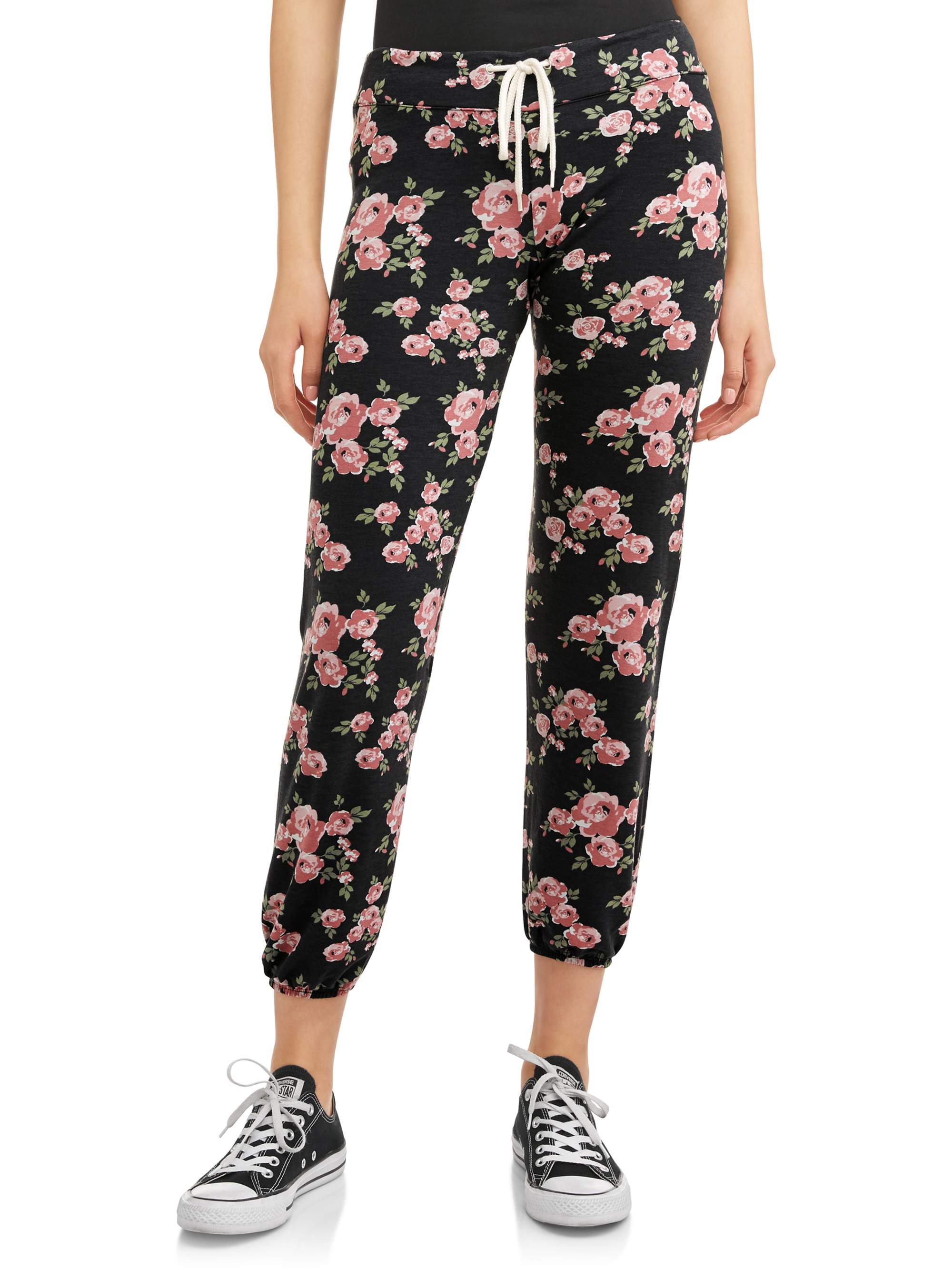 Juniors' Printed French Terry Jogger