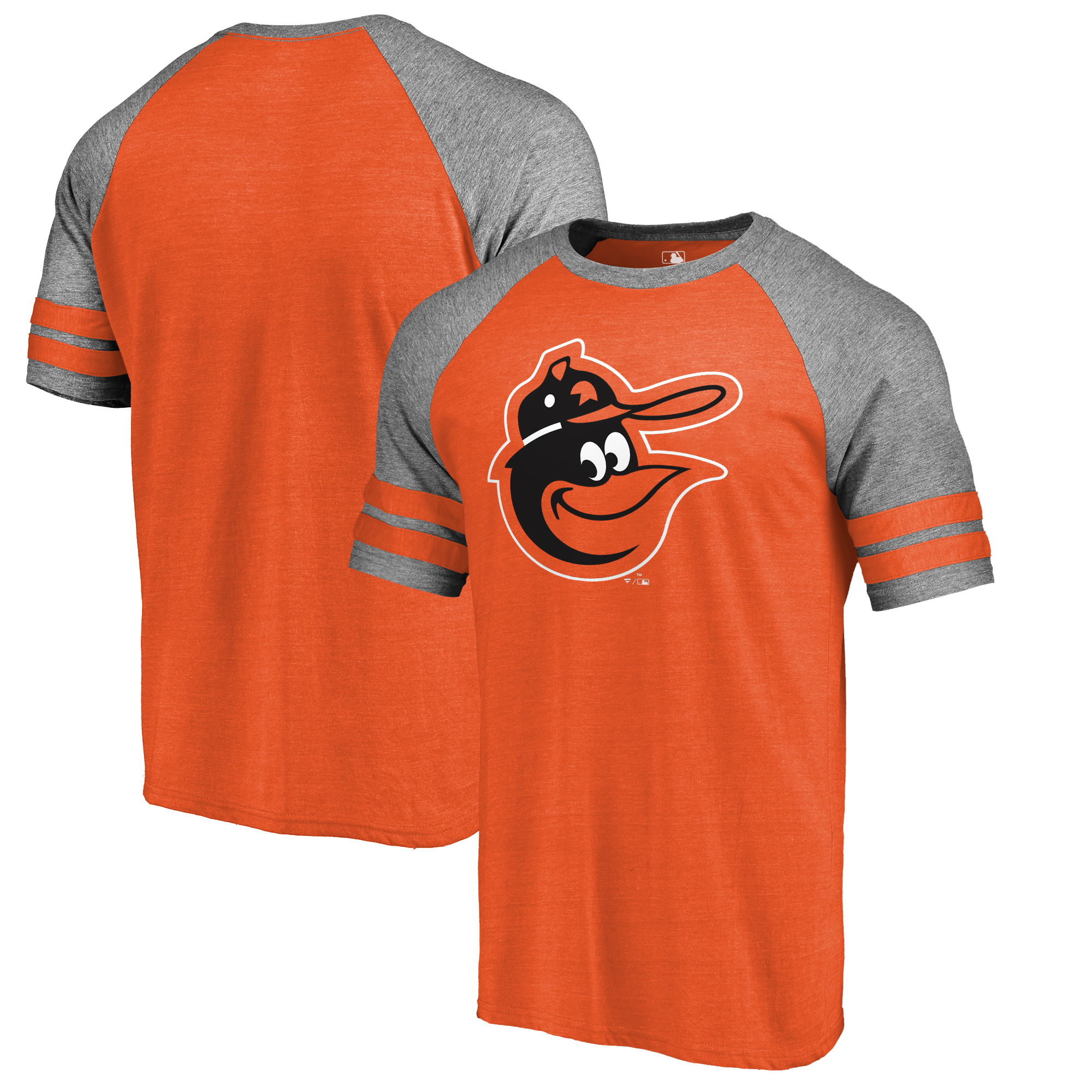 Baltimore Orioles Fanatics Branded Huntington Cooperstown Collection Tri-Blend T-Shirt - Orange