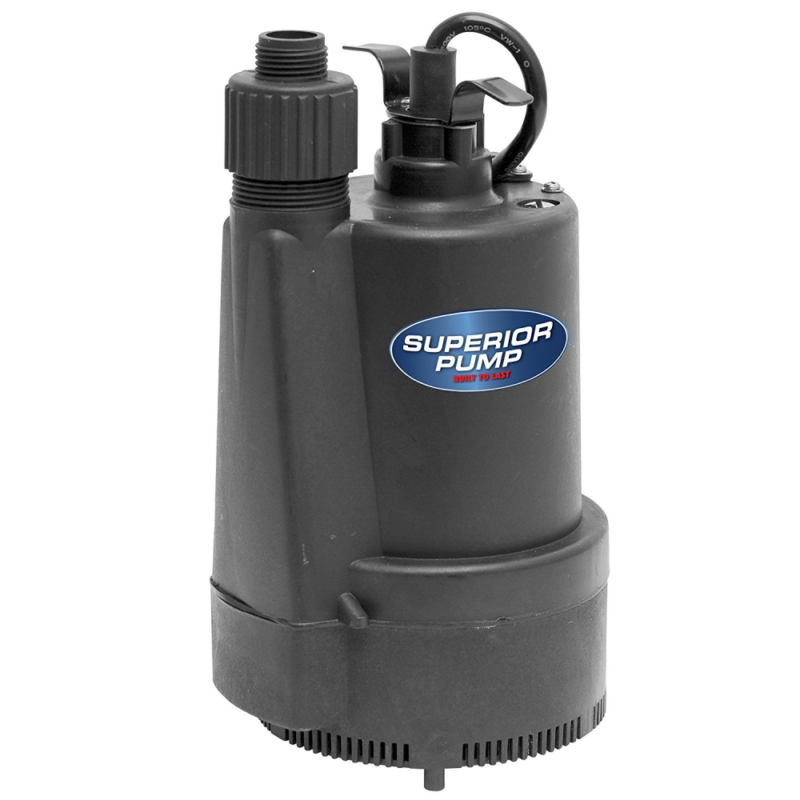 Superior Pump 91330 1/3 HP Thermoplastic Submersible Utility Pump FREE SHIPPING 7019334