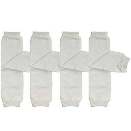 ALLYDREW 4 Pack Solid Baby Leg Warmer Set & Toddler Solid Leg Warmer Set for Boys & Girls, White](Cheap Furry Leg Warmers)