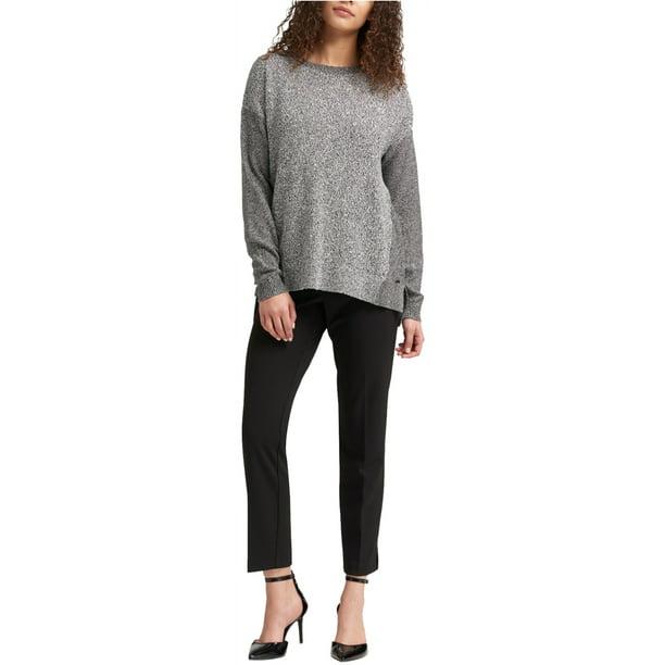 Dkny Womens Step-Hem Knit Sweater