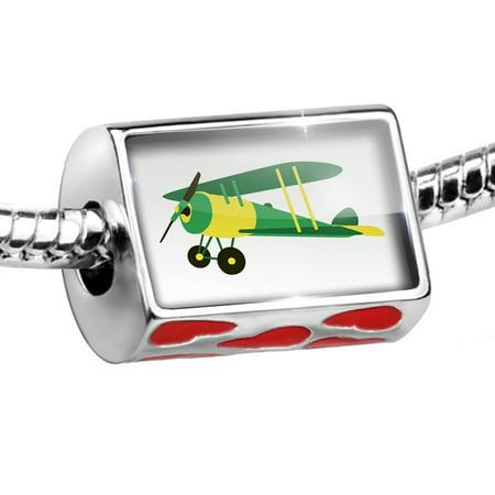 - Bead Kids Design Green Airplane Charm Fits All European Bracelets