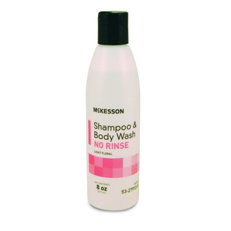 McKesson Rinse-Free Shampoo and Body Wash 53-27913-8 8 Ounces 1 Each, Light Floral (Back To Basics Scented Shampoo)