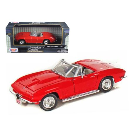 1967 Chevrolet Corvette Red Convertible 1/24 Diecast Car Model by (1967 Gto Convertible)