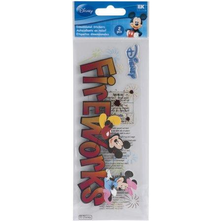 Disney Title Dimensional Stickers-Mickey - Fireworks - image 1 de 1