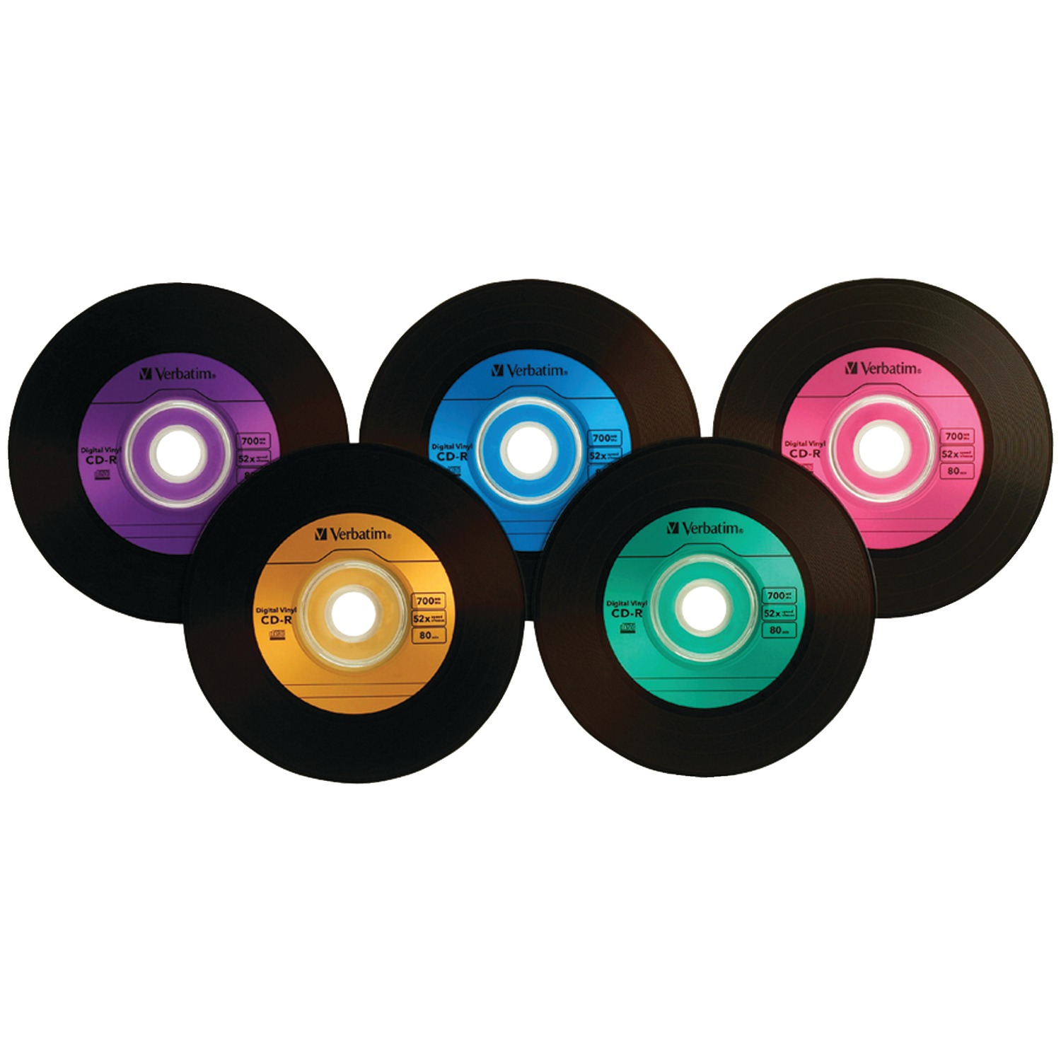 Verbatim 94587 700mb 80-minute 52X Digital Vinyl CD-RS, 50-ct Spindle
