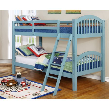 Bella Twin Over Twin Bunk Bed Arched Sea Foam Product Image