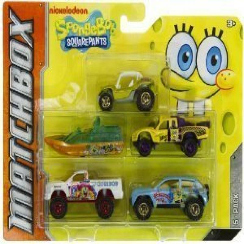Matchbox The Spongebob Squarepants 5 Pack Cars Shown As Picture by