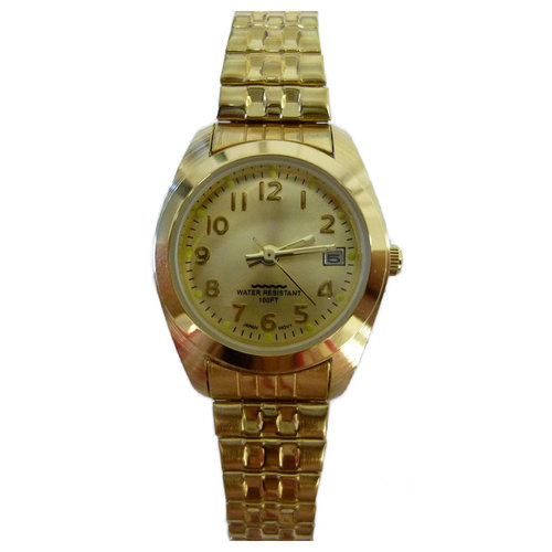 White Stag Women's Time Center Dress/Casual Watch, Gold Stainless Steel Expansion Band