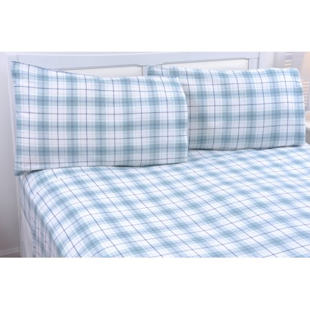 Bibb Home Extra Soft Deep Pocket Printed Flannel Sheet Set - 6 Colors ()