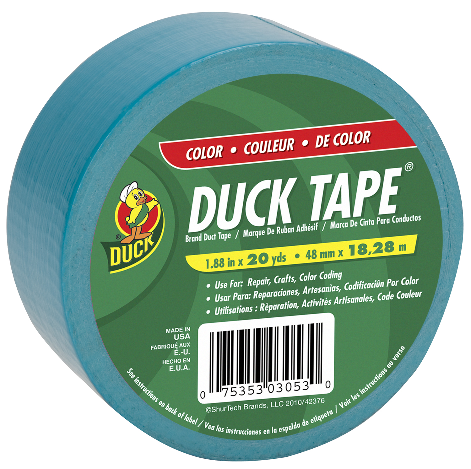 Color Duck Tape Brand Duct Tape - Aqua, 1.88 in. x 20 yd.