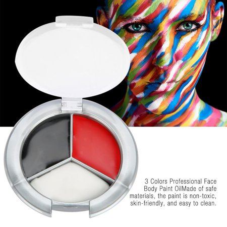 Cheek Face Painting Ideas Halloween (LYUMO 3 Colors Professional Face Body Paint Oil Painting Art Make Up Halloween Party Kit Sets, Halloween Body Paint Kit, Halloween Body)