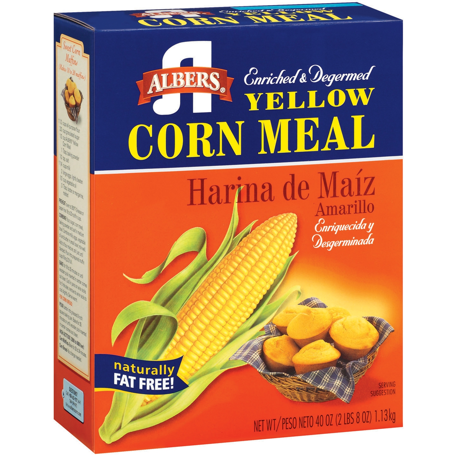Albers Yellow Corn Meal, 40-Ounce Box