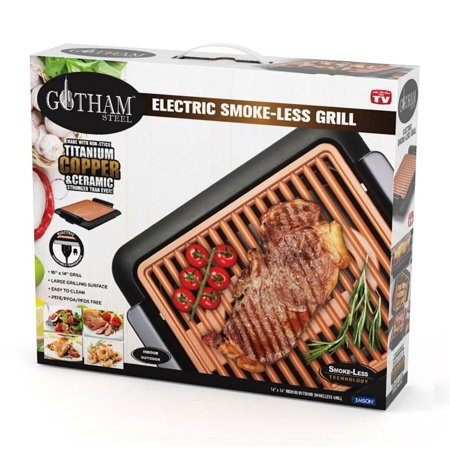 Gotham Steel Smokeless Electric Grill, Portable and Nonstick - As Seen On TV!