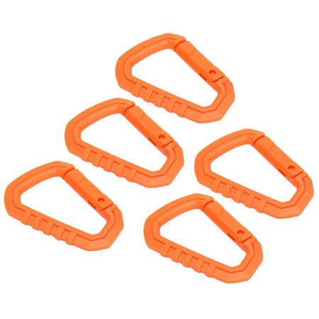 YLSHRF 5pcs/Set Plastic Outdoor Carabiner D-Ring Snap Lock Key Chain Hook Buckle Bag, D-Ring Key Chain, D-Ring Hook