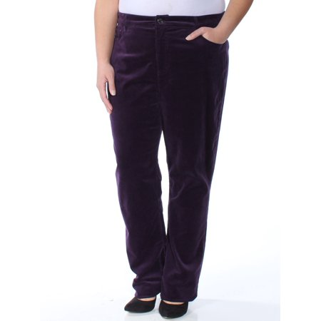 Ralph Lauren Women's Premier Straight Curvy Corduroy - Cords Corduroy Jeans