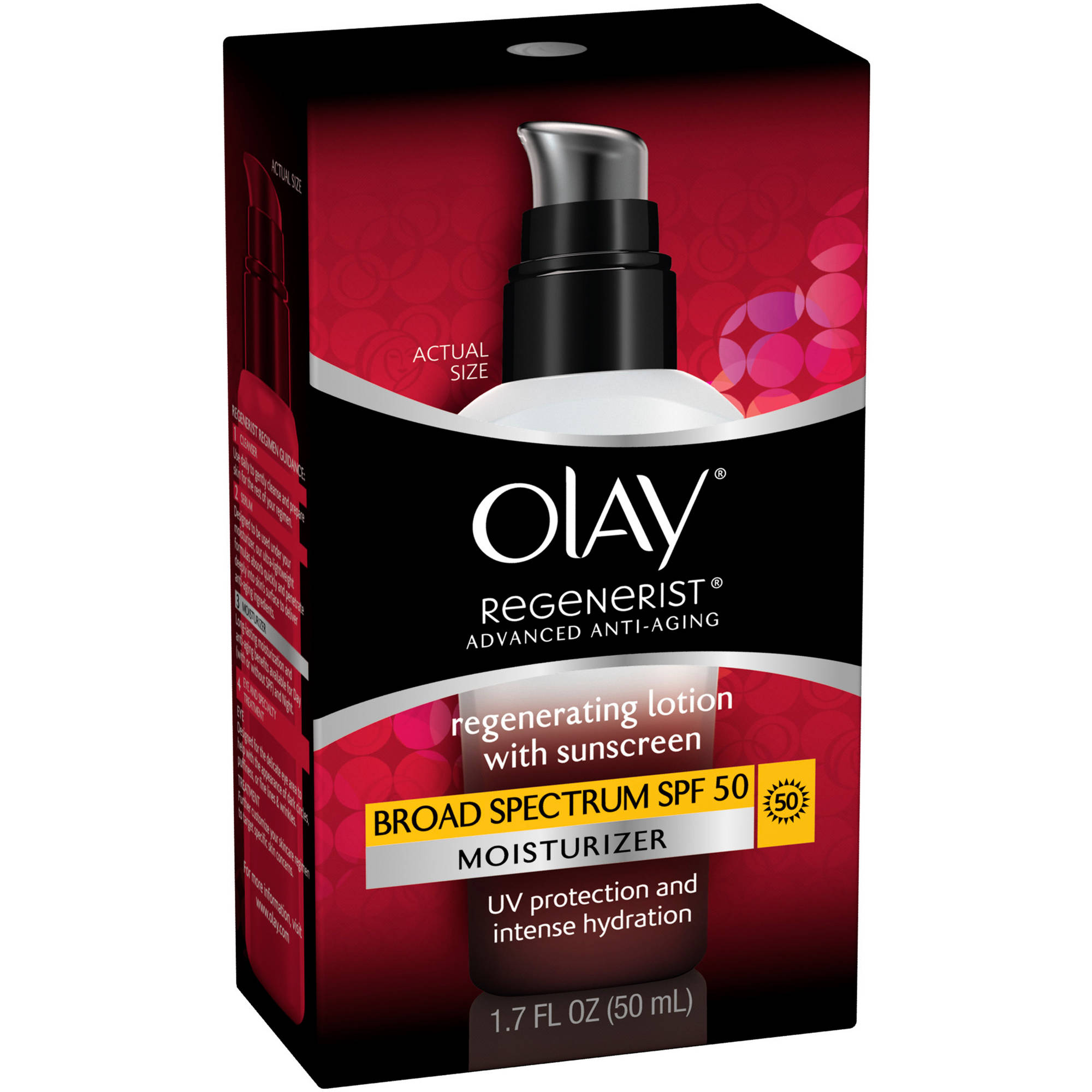 Olay Regenerist UV Defense Regenerating Facial Moisturizer Lotion, 1.7 oz