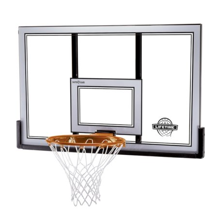 "Lifetime 50"" Steel-Framed Backboard and Rim Combo, 79910"