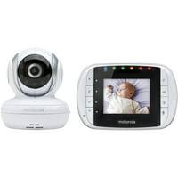 Motorola MBP33S, Video Baby Monitor, Two-Way Audio