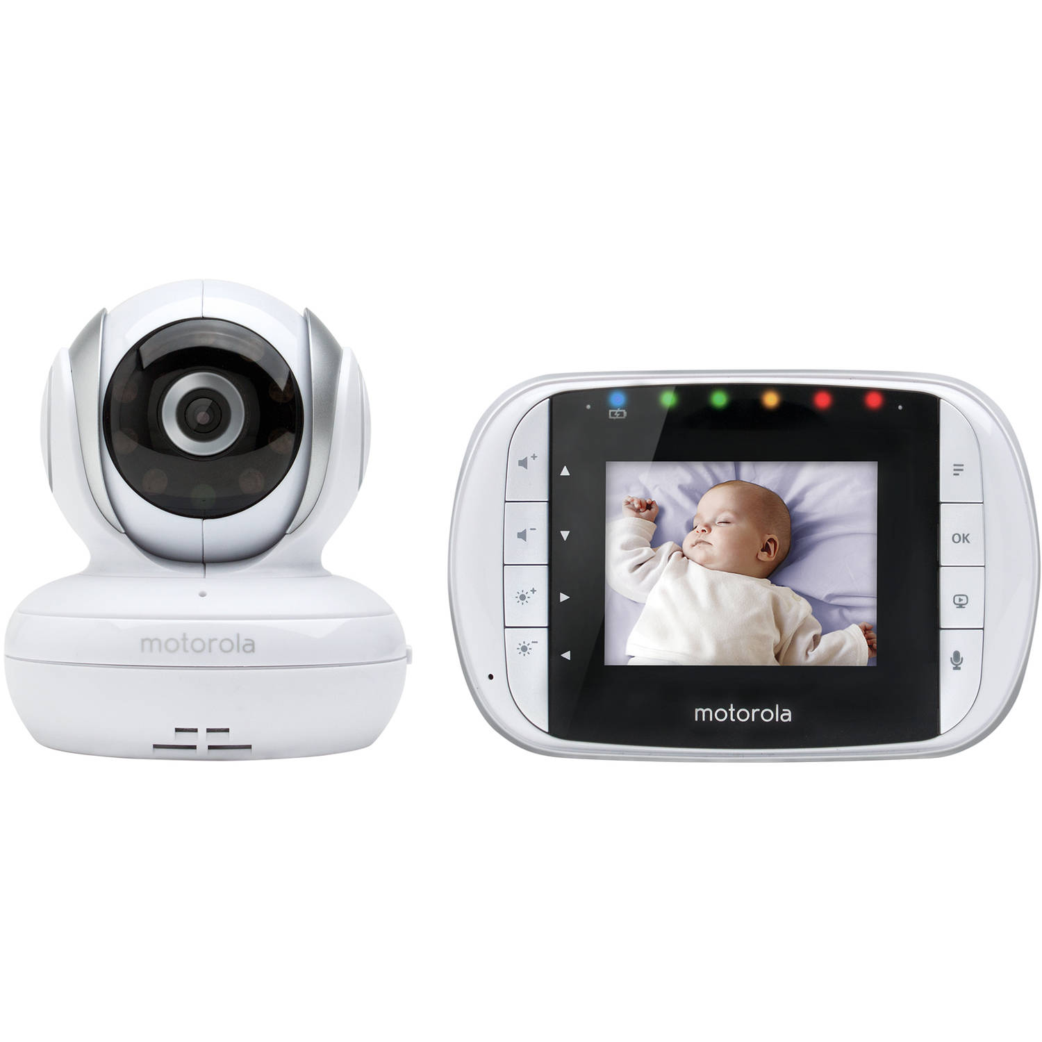 Motorola MBP33S, Video Baby Monitor, Two-Way Audio