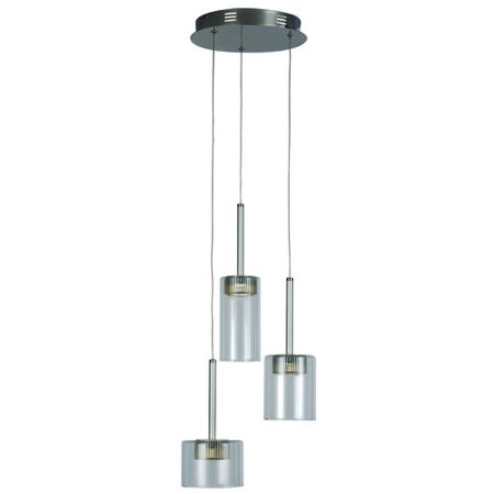 Bel Air Lighting Elisa 145 3 Led Polished Chrome Pendant Light