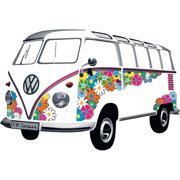 Smart Deco 1962 Flower VW T1Samba Bus Wall Decal