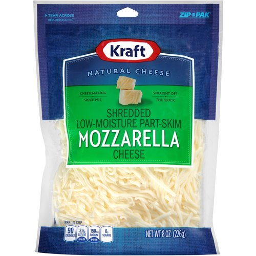 Kraft Shredded Mozzarella Cheese, 8 oz