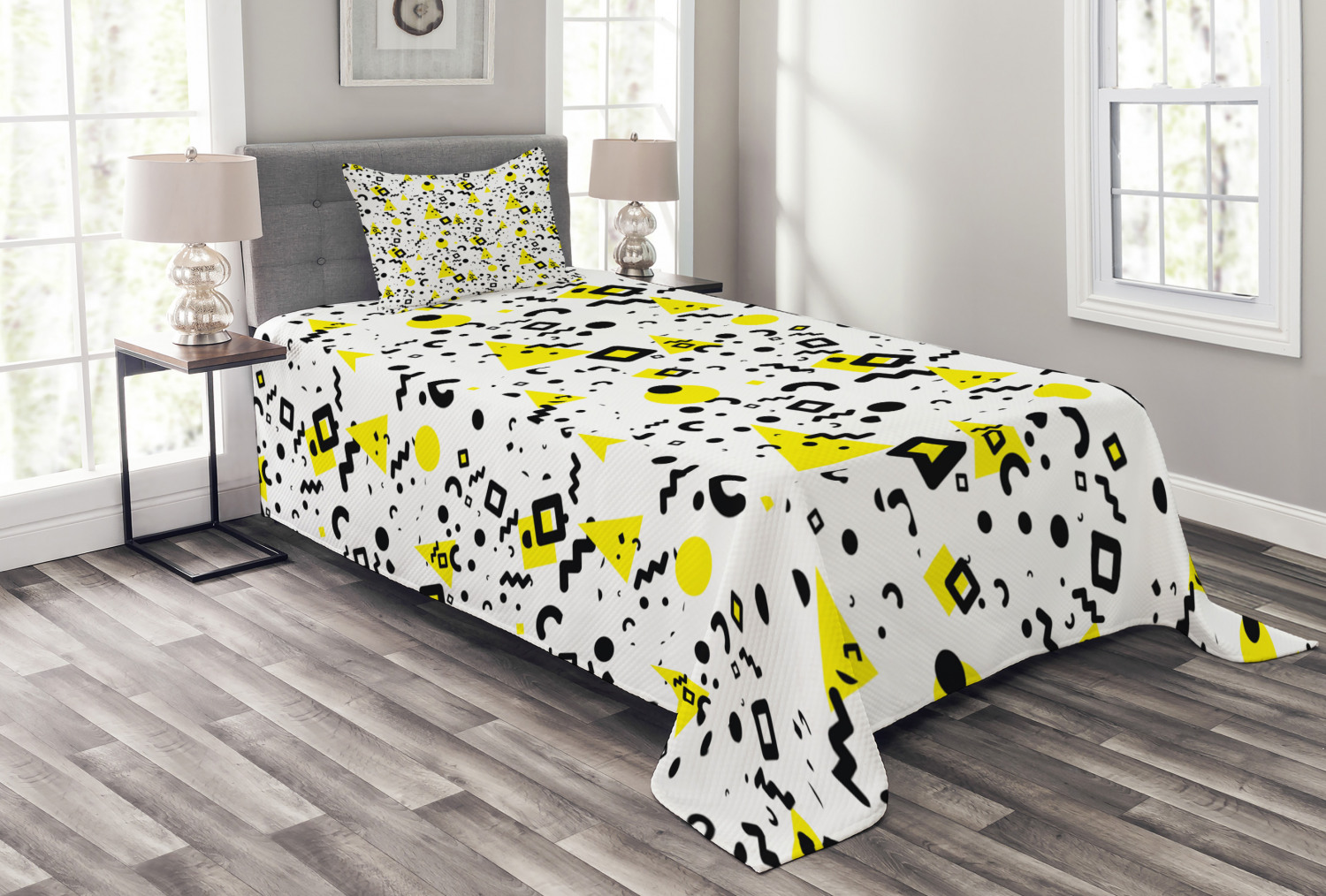 Soft Comfortable Top Sheet Decorative Bedding 1 Piece Twin Size Vivid Colored Composition of Fun Retro Cartoon in 80s and 90s Comic Style Multicolor Ambesonne Emoji Flat Sheet