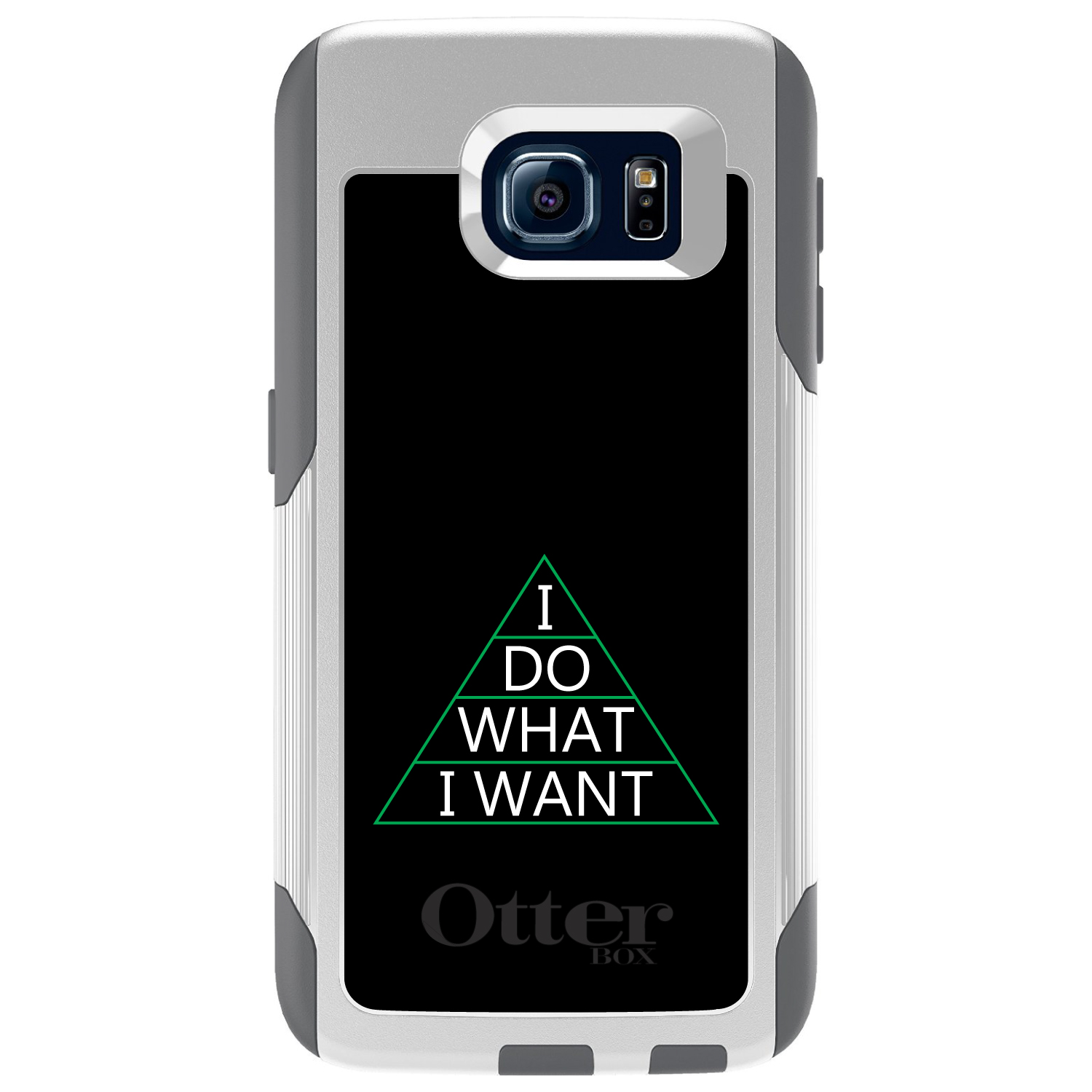 CUSTOM White OtterBox Commuter Series Case for Samsung Galaxy S6 - I Do What I Want