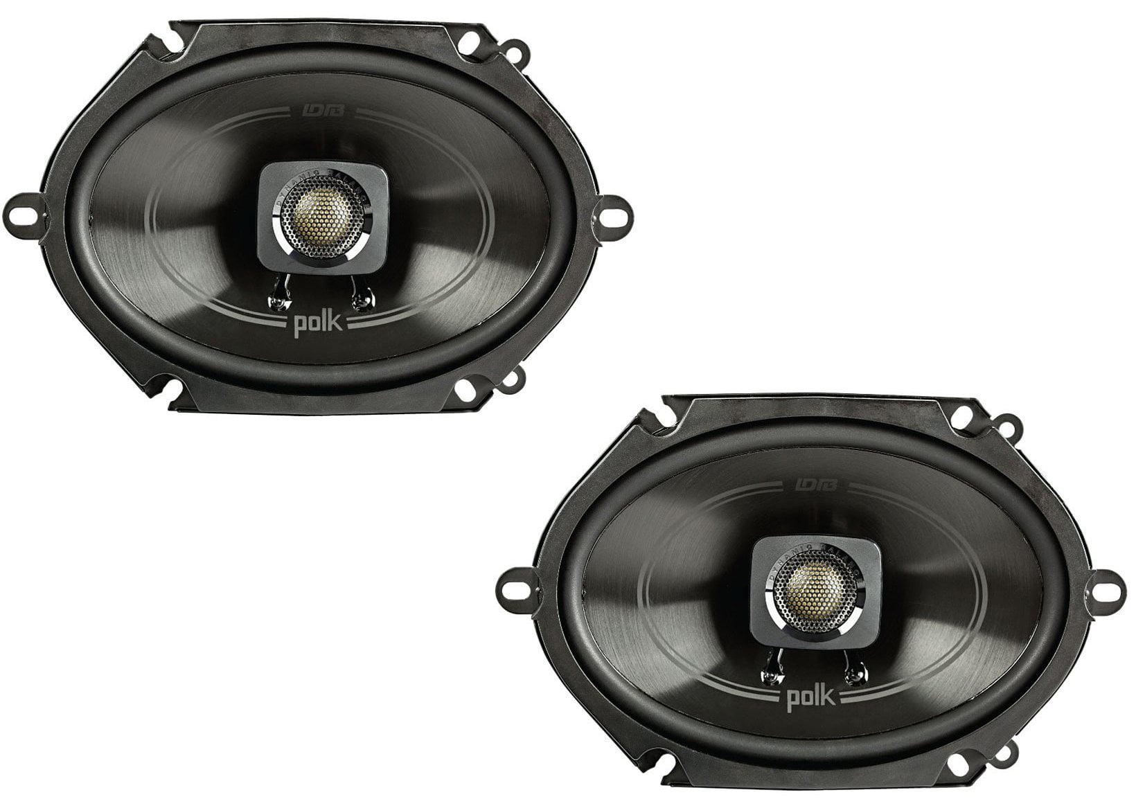 "Polk 5x7"" 225W 2-Way Car/Boat Coaxial Stereo Audio"