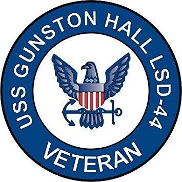 """US Navy USS Gunston Hall LSD-44 Ship Veteran Decal Sticker 5.5"""""""