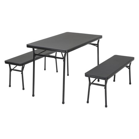 Cosco 3-Piece Indoor Outdoor Table and 2 Bench Tailgate Set, Multiple